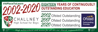Challney High School for Boys Judged to be Outstanding by Ofsted